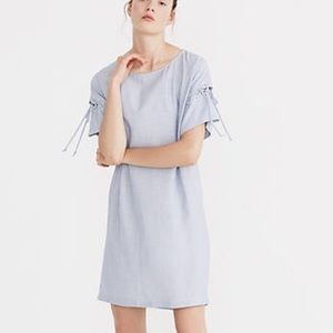 Madewell Striped Laced Sleeve Dress Size XS